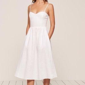 Reformation Olivia Linen Dress - Size 0 - NWOT